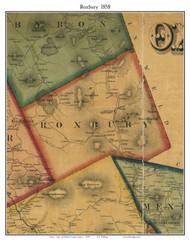 Roxbury, Maine 1858 Old Town Map Custom Print - Oxford Co.