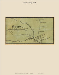Stow Village, Maine 1858 Old Town Map Custom Print - Oxford Co.