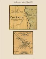 East Sumner & Jackson Village, Maine 1858 Old Town Map Custom Print - Oxford Co.