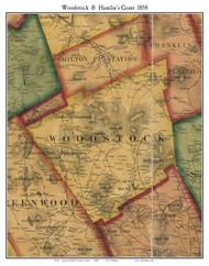 Woodstock & Hamlin's Grant, Maine 1858 Old Town Map Custom Print - Oxford Co.