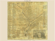 Bangor City, Maine 1859 Old Town Map Custom Print - Penobscot Co.