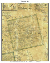 Bradford, Maine 1859 Old Town Map Custom Print - Penobscot Co.
