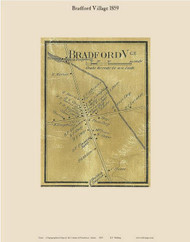 Bradford Village, Maine 1859 Old Town Map Custom Print - Penobscot Co.