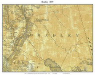 Bradley, Maine 1859 Old Town Map Custom Print - Penobscot Co.