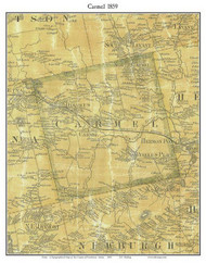 Carmel, Maine 1859 Old Town Map Custom Print - Penobscot Co.