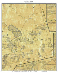 Clifton, Maine 1859 Old Town Map Custom Print - Penobscot Co.