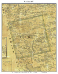 Corinna, Maine 1859 Old Town Map Custom Print - Penobscot Co.
