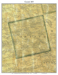 Corinth, Maine 1859 Old Town Map Custom Print - Penobscot Co.