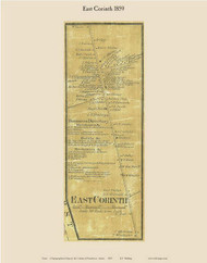 East Corinth, Maine 1859 Old Town Map Custom Print - Penobscot Co.