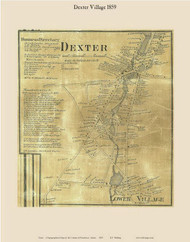 Dexter Village, Maine 1859 Old Town Map Custom Print - Penobscot Co.