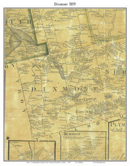 Dixmont, Maine 1859 Old Town Map Custom Print - Penobscot Co.