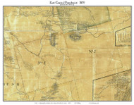 East Central Penobscot, Maine 1859 Old Town Map Custom Print - Penobscot Co.