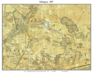 Eddington, Maine 1859 Old Town Map Custom Print - Penobscot Co.