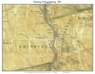 Edinburg & Passadumkeag, Maine 1859 Old Town Map Custom Print - Penobscot Co.