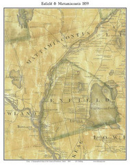 Enfield & Mattamiscontis, Maine 1859 Old Town Map Custom Print - Penobscot Co.