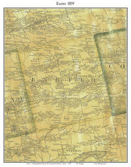Exeter, Maine 1859 Old Town Map Custom Print - Penobscot Co.