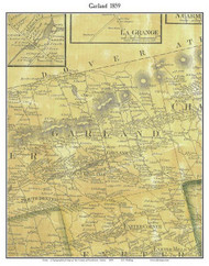 Garland, Maine 1859 Old Town Map Custom Print - Penobscot Co.