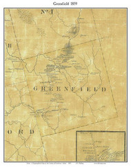 Greenfield, Maine 1859 Old Town Map Custom Print - Penobscot Co.