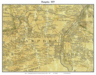 Hampden, Maine 1859 Old Town Map Custom Print - Penobscot Co.