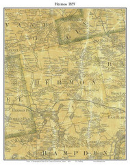 Hermon, Maine 1859 Old Town Map Custom Print - Penobscot Co.