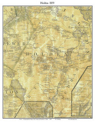 Holden, Maine 1859 Old Town Map Custom Print - Penobscot Co.