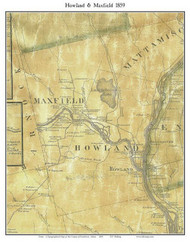 Howland & Maxfield, Maine 1859 Old Town Map Custom Print - Penobscot Co.