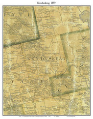Kenduskeag, Maine 1859 Old Town Map Custom Print - Penobscot Co.