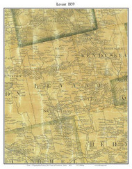 Levant, Maine 1859 Old Town Map Custom Print - Penobscot Co.