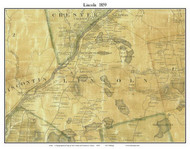 Lincoln, Maine 1859 Old Town Map Custom Print - Penobscot Co.