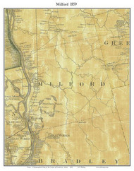 Milford, Maine 1859 Old Town Map Custom Print - Penobscot Co.