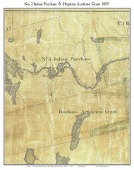 No. 3 Indian Purchase & Hopkins Academy Grant, Maine 1859 Old Town Map Custom Print - Penobscot Co.