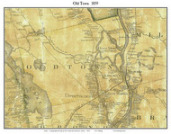 Old Town, Maine 1859 Old Town Map Custom Print - Penobscot Co.