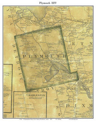 Plymouth, Maine 1859 Old Town Map Custom Print - Penobscot Co.