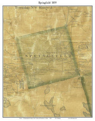 Springfield, Maine 1859 Old Town Map Custom Print - Penobscot Co.