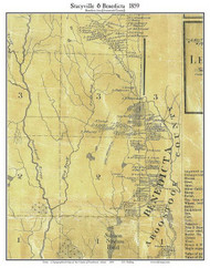 Stacyville & Benedicta, Maine 1859 Old Town Map Custom Print - Penobscot Co.