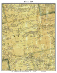 Stetson, Maine 1859 Old Town Map Custom Print - Penobscot Co.