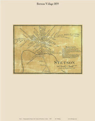 Stetson Village, Maine 1859 Old Town Map Custom Print - Penobscot Co.