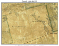 Twombly & Lakeville, Maine 1859 Old Town Map Custom Print - Penobscot Co.