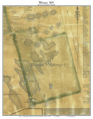 Whitney, Maine 1859 Old Town Map Custom Print - Penobscot Co.