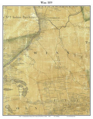 Winn, Maine 1859 Old Town Map Custom Print - Penobscot Co.