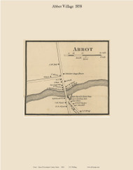 Abbot Village, Maine 1858 Old Town Map Custom Print - Piscataquis Co.