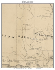 Barnard, Maine 1858 Old Town Map Custom Print - Piscataquis Co.