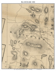 Blanchard, Maine 1858 Old Town Map Custom Print - Piscataquis Co.