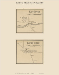 East Dover & South Dover, Maine 1858 Old Town Map Custom Print - Piscataquis Co.