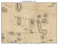 Elliottsville, Maine 1858 Old Town Map Custom Print - Piscataquis Co.