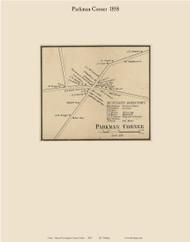 Parkman Corner, Maine 1858 Old Town Map Custom Print - Piscataquis Co.
