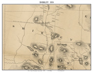 Shirley, Maine 1858 Old Town Map Custom Print - Piscataquis Co.