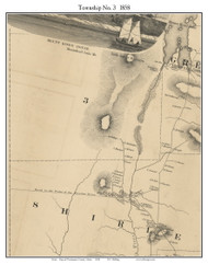 Township No. 3, Maine 1858 Old Town Map Custom Print - Piscataquis Co.