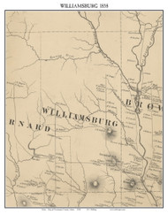 Williamsburg, Maine 1858 Old Town Map Custom Print - Piscataquis Co.