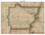 Anson, Maine 1860 Old Town Map Custom Print - Somerset Co.
